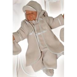 Baby Boy Christening Coat in Beige Adam