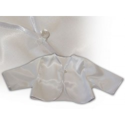 Girls Christening Satin Bolero