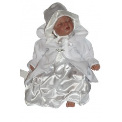 Christening Dress White Pearl