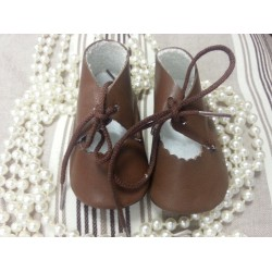 Baby Boy Brown Leather Shoes 132-3