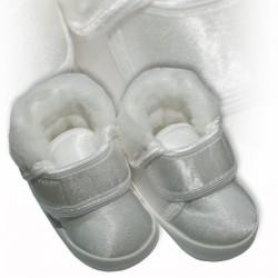 Baby Boys White Satin Christening Baptism Shoes M008 Winter