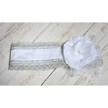 Girls Christening/Baptism Silvered Headband