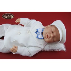 Linen Christening Suit Albert Blue