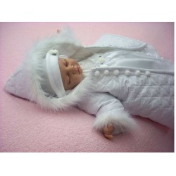 Girls Christening /Occasion Coat in White Laura