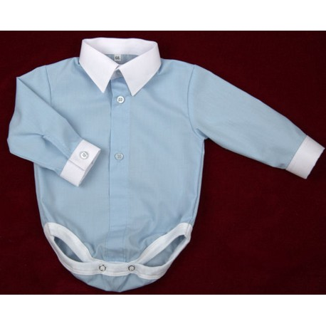 Blue Shirt Bodysuit for Baby Boy