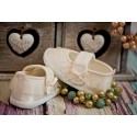 Christening Shoes M/baby Slippers Ivory