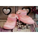 Christening Shoes M/Ballerina with Flounce and Rose Pink