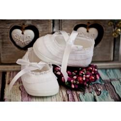 Velour Christening Shoes Ballerina