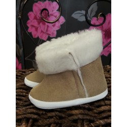 Winter Boots in Beige for Baby Boy
