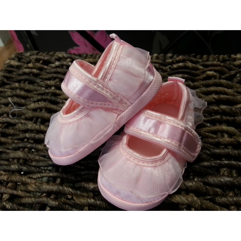Christening Shoes M Baby Slippers Pink Communion Dresses
