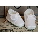 Satin Christening Shoes M008