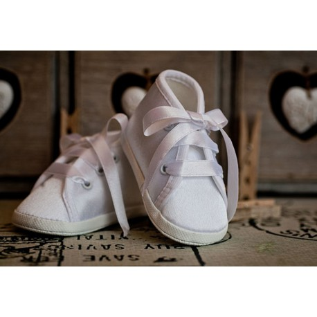 Christening Shoes M006-3 White