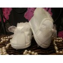 Baby Girls Christening Shoes with Bow and Fur M062