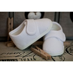 Baby Boys White Velvet Christening Baptism Shoes M008