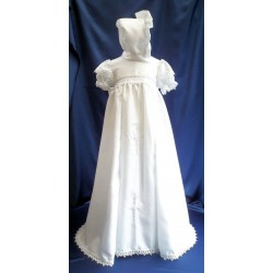 White Cross Christening Baptism Unisex Robe Style 807