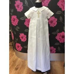 Handmade Linen Boys Christening Robe