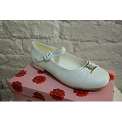 Rochelle white communion/ flower girl shoes Style R034