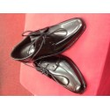 Little people black leather boys first communion shoes Style david KS10