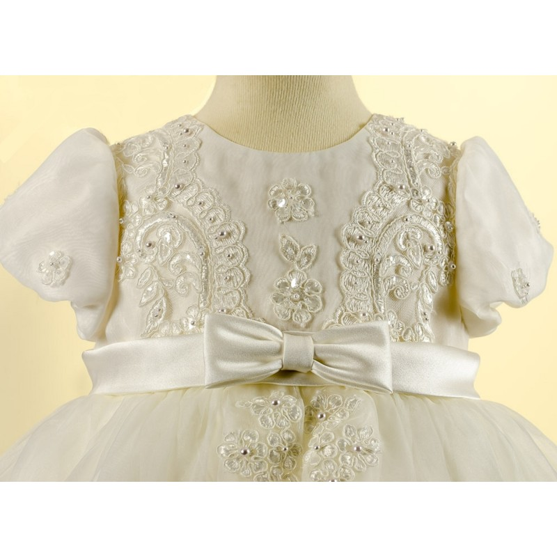 ... Sarah Louise Bead and Flower Christening Gown and Bonnet Style 165S ... 85562cdcaf