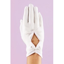 First Communion Gloves with Pearls Style K-16