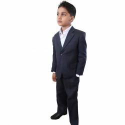 2 Piece Dark Navy  linen suit Style Harry