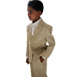 2 Piece Beige linen suit Style Harry