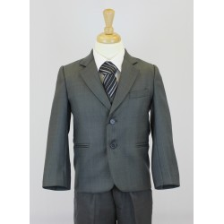 Boys Dark Grey 5 Piece Communion Suit Style 506