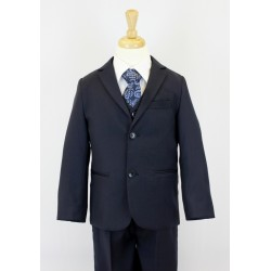Boys Navy Blue 5 Piece Communion Suit Style 513