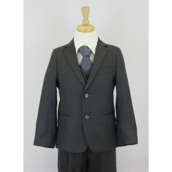 Boys Grey 5 Piece Communion Suit Style 509