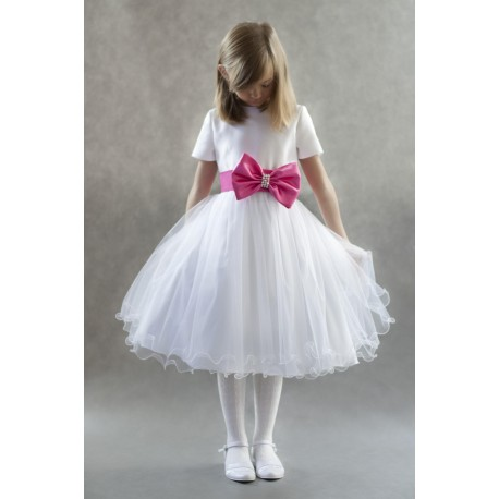 Princess Tea-Length Flower Girl/Special Occasion Dress With Sash Beading Bow Style 1