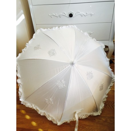 Communion Parasol Satin & Lace Frilled Vintage Style 690 by Little People