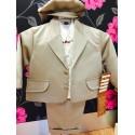 Brown striped 6 piece christening/Wedding suit