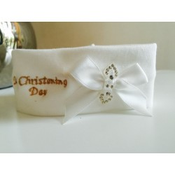 My Christening Day Cotton Headband in Ivory Style CRW40