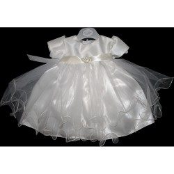 Ivory Christening/Baptism Diamente Buckle Dress Style 1063