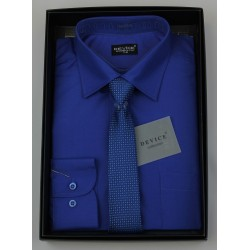 Boys Formal Navy New Royal Shirt with Tie