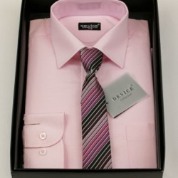 Boys Formal Pink Suit Shirt with Tie