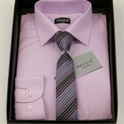 Boys Formal Lilac Suit Shirt with Tie