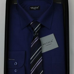 Boys Formal Navy Suit Shirt with Tie