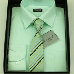 Boys Formal Green Suit Shirt with Tie