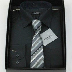Boys Formal Black Suit Shirt with Tie