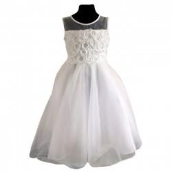 Sevva  Ivory  Shiny Tulle Flower Girl Dress Style H9408