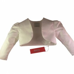 White Satin Long Sleeve Baby Girls/ Girls Bolero by Sevva Style GINA