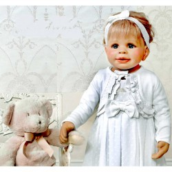 Baby girls White Christening Bolero/ Cardigan Style 5126