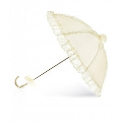 Ivory Satin&Lace Communion Parasol/Umbrella Bridget p02