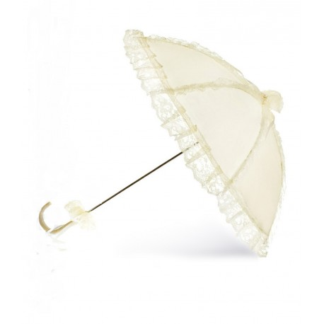White Lace Communion Parasol/Umbrella Bridget