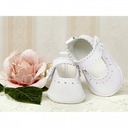 Baby Girl White Leather Christening/Special Occasions Shoes Style 2798/30