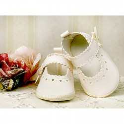Baby Girl Ivory Leather Christening/Special Occasions Shoes Style 2798/1