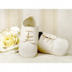 Baby Boys Ivory Leather Christening/Wedding/Pram/ Formal Party Shoes Style 2798/34