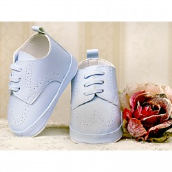 Baby Boys Blue Leather Christening/Wedding/Pram/ Formal Party Shoes Style 2798/34