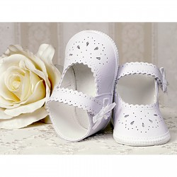 Baby Girl White Leather Christening/Special Occasions Shoes Style 2798/7